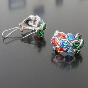 4 SEASONS color silver earrings (Truly Me)