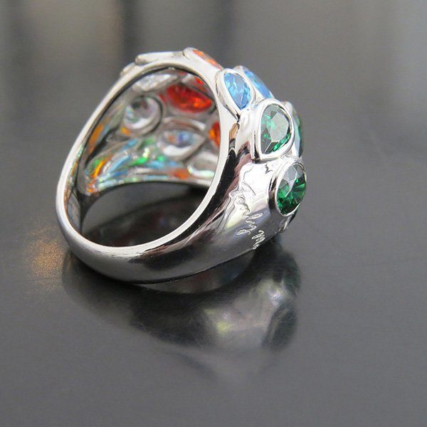 4 SEASONS silver ring with colors of the seasons (Truly Me)