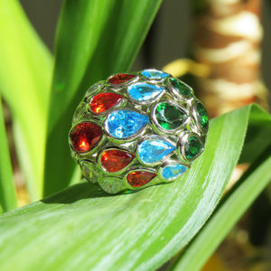 4 SEASONS silverring med bladverk i årstidernas färger (Truly Me)