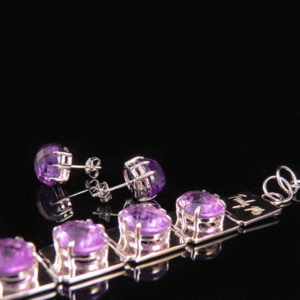 DEEP PURPLE silver jewelry with amethyst (Truly Me)