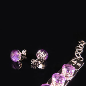 DEEP PURPLE silver earrings with amethyst (Truly Me)