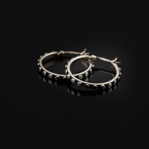 EDGE Silver Earrings Hoops Rings (Medium) (Truly Me)