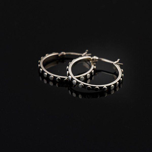 EDGE silverörhängen hoops ringar medium (Truly Me)