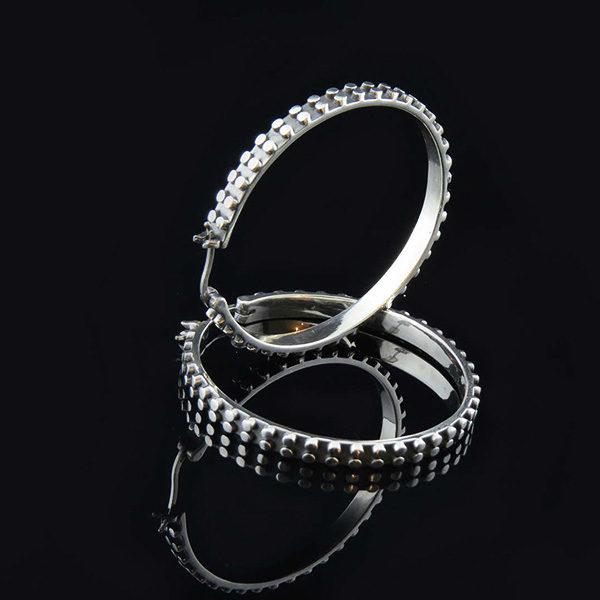 EDGE silverörhängen hoops ringar large (Truly Me)