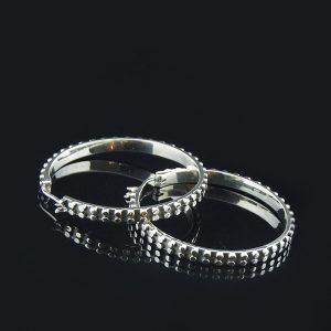 EDGE silver earrings hoops rings large (Truly Me)