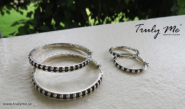 EDGE Silver Earrings Hoops Rings (Truly Me)