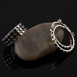 EDGE Silver jewelry set by Truly Me Jewelry Design