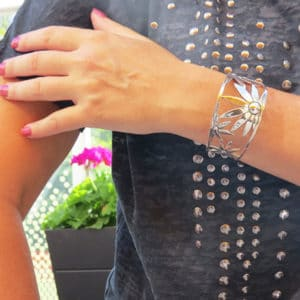 FLOWER POWER bangle silverarmband (Truly Me)