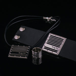 GRID silver jewelry set with tough and beautiful design (Truly Me)