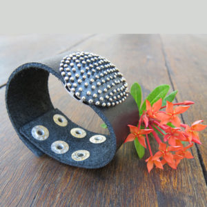 HEDGEHOG leather bracelet (by Truly Me Jewelry Design)