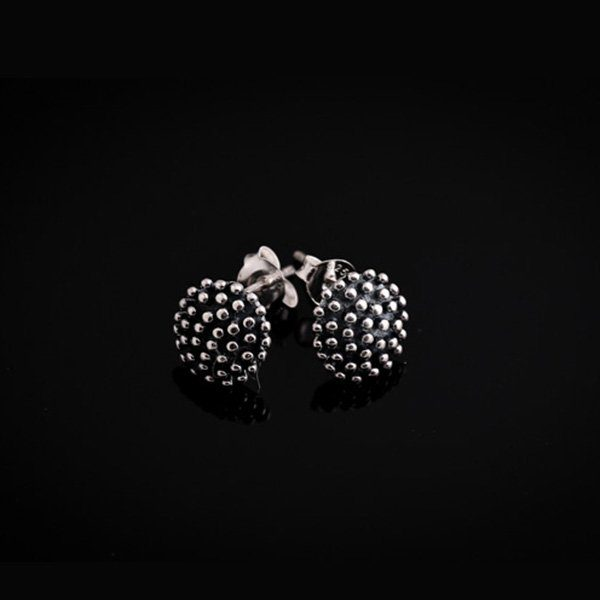 HEDGEHOG silver earrings (by Truly Me Jewelry Design)