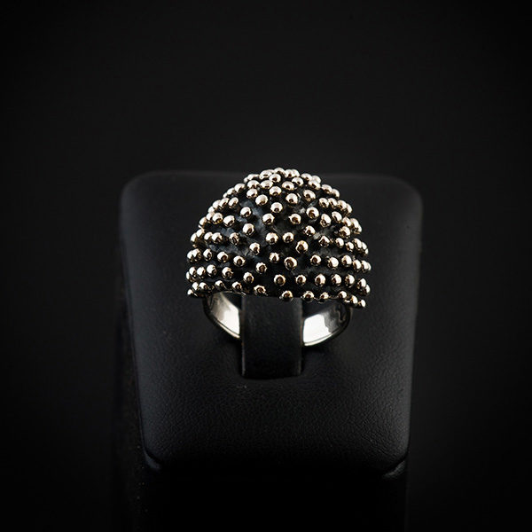 HEDGEHOG silver ring with design like a hedgehog (Truly Me)