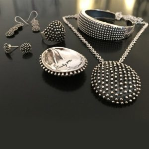HEDGEHOG silver jewelry set design like a hedgehog (Truly Me)