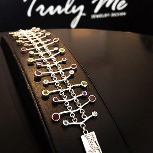 LETS GO CRAZY silverarmband med många färger (Truly Me)