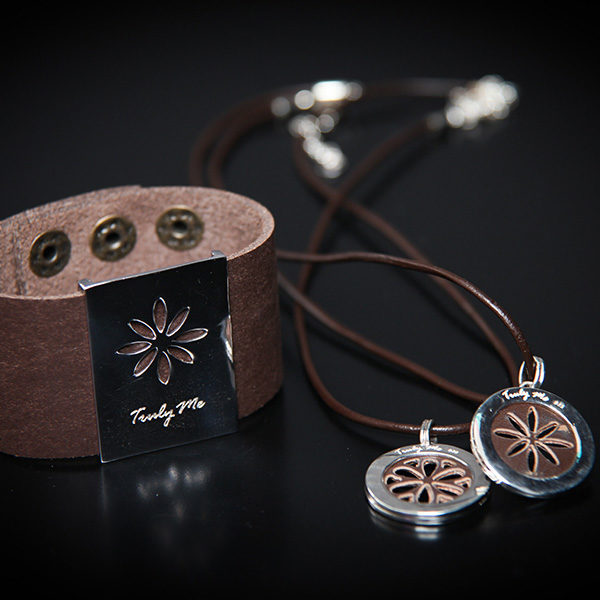 PENNY LANE silver jewelry with brown leather (Truly Me)