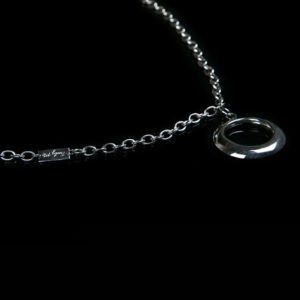 PURE long silver necklace