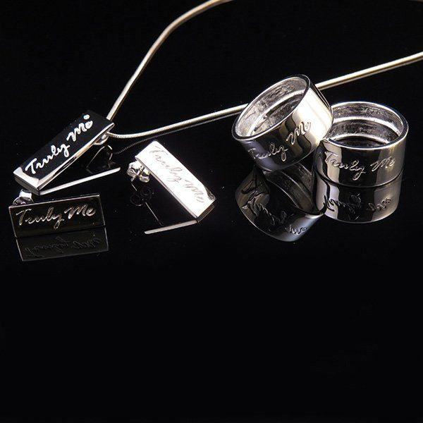 PURE silver jewelry set when less is more (Truly Me)