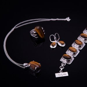 TIGER silver jewelry with tiger eye stones (Truly Me)
