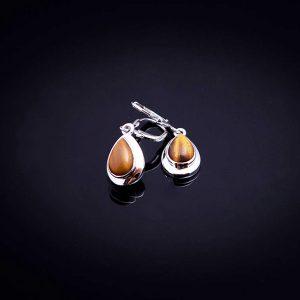 TIGER silverörhängen med stenen tigeröga (Truly Me Jewelry Design)
