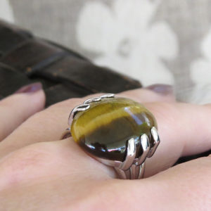 TIGER silver ring with tiger eye stone (Truly Me)