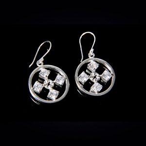 TOUCH silverörhängen med stilren design (Truly Me Jewelry Design)