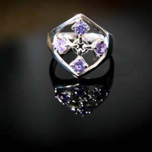 TOUCH silver ring in lavender color