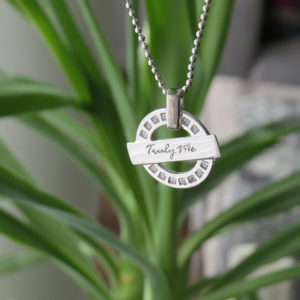WISDOM silver necklace stylish