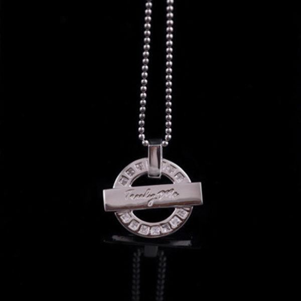 WISDOM silverhalsband med stilren design (Truly Me)