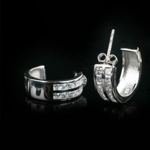 WISDOM silver earrings classic stylish