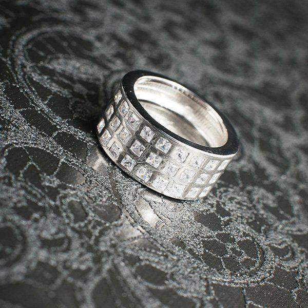 WISDOM silverring med bling i stilren design (Truly Me)