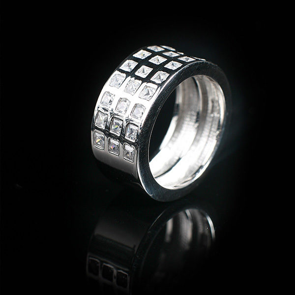 WISDOM silver ring with bling in stylish design (Truly Me Jewelry Design)