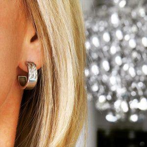 WISDOM silver earrings classic stylish