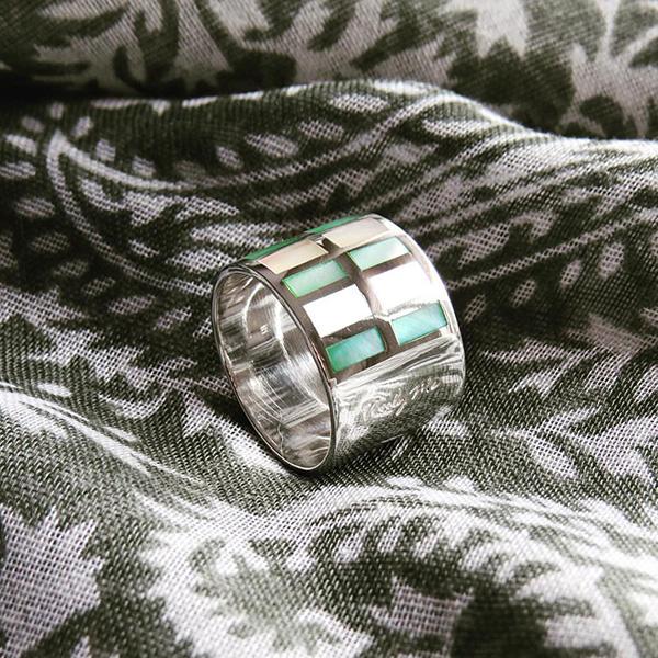 ZEBRA silverring grön Truly Me