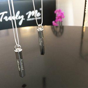 Gravyr silverhalsband (Truly Me Jewelry Design)