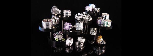 Handgjorda silverringar